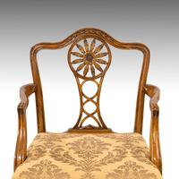 Most Elegant Set of Eight (6+2) Early 20th Century Chippendale Style Mahogany Framed Chairs (5 of 11)