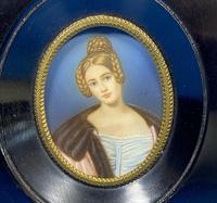 1920s Signed Ebonised Painted Miniature Frame (3 of 10)