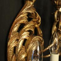 Florentine Silver Giltwood Antique Wall Lights (8 of 10)