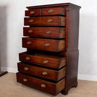 Georgian Chest on Chest of Drawers Inlaid Mahogany (9 of 12)