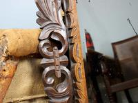 Late 19th Century French Carved Oak Cushion Mirror (3 of 4)