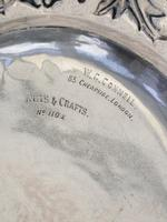 Victorian Arts & Crafts Hand Raised Silver Exhibition Dish by W G Connell, London, 1893 (9 of 10)