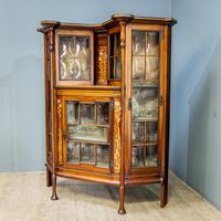 Art Nouveau Display Cabinet (3 of 11)