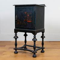 Attractive Late Victorian Chinoiserie Painted Side Cabinet (14 of 15)