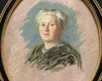 Fine Quality Early 20th Century Oval Pastel Portrait Painting Inc London Gallery Label (2 of 12)