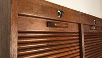 """Vintage Mid Century Double French Filing Cabinet Tambour Roller Shutter """"Radia"""" (4 of 12)"""