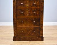 Victorian Burr Walnut Wellington Chest (5 of 10)