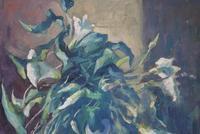 Mid Century Large Still Life Flowers by Bob Vigg (5 of 10)