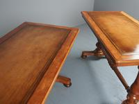 Pair of Victorian Satin Birch Library Tables (5 of 14)