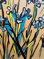 Large Beautiful 1958 Vintage Impressionist Floral Still Life Oil Painting (5 of 12)