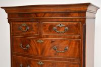 Antique Georgian Style Mahogany Serpentine Fronted Chest on Chest (3 of 10)