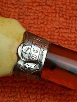 Antique Sterling Silver Hallmarked Silver & Amber Cheroot Holder 1897, William Henry Vince (7 of 11)
