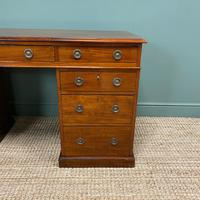 Fine Quality Victorian Mahogany Antique Pedestal Desk (4 of 7)