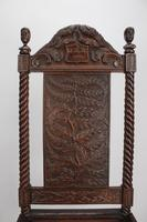 Victorian Gothic Carved Oak Chair Dated 1869 (11 of 13)