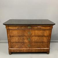 Figured Walnut and Marble Top Commode (3 of 13)