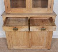 Arts & Crafts Pine Glazed Bookcase School Display Cabinet Dresser (8 of 12)