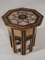 Early 20th Century Syrian Hardwood & Mother of Pearl Octagonal Table (3 of 5)