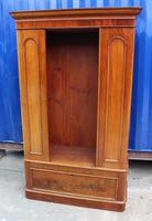 1900's Mirrored 1 Door Mahogany Wardrobe with Large Drawer (2 of 4)