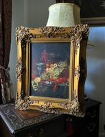 Fine Early 20thc Antique Still Life Oil Painting - Fruit & Shellfish - Minor TLC (3 of 14)