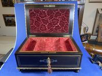 19th Century French  Ebonised Fruitwood Jewellery Box (8 of 18)