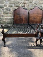 Pair of Antique Mahogany Single Beds (9 of 10)