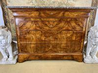 19th Century Burr Walnut Marble Top Commode (4 of 8)