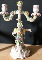 Fine Pair of Winged Cherub Porcelain Candlesticks c.1880 (11 of 11)