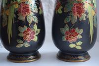 Pair of Crown Devon Lusterware Vases Decorated with Parrots (10 of 10)
