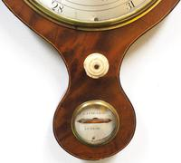 Good Mahogany 5 Glass Arched Top Barometer Thermometer by I Laffrancho Ludlow (2 of 5)