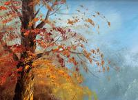 Immaculate Large Original Mid-20thc Vintage Autumn River Landscape Oil Painting (9 of 11)