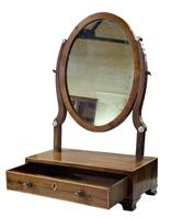 19th Century Mahogany Oval Dressing Table Mirror (5 of 6)