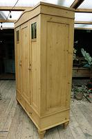 Beautiful Old Pine Triple Knock Down 'Arts & Crafts' Wardrobe  - We Deliver & Assemble! (5 of 18)