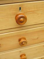 Large Antique Victorian Stripped Pine Chest of Drawers (3 of 14)