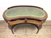 Kidney Shaped Writing Desk with Leather Top (4 of 9)