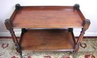 Mahogany two tier trolley (2 of 3)