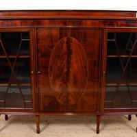 Bookcase Astragal Glazed Inlaid Mahogany (5 of 10)