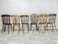 Interesting Harlequin Set of 6 Windsor Kitchen Chairs (4 of 6)