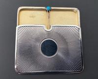 Eye-catching Edwardian Silver & Turquoise Double Stamp Case (5 of 5)