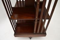 Antique  Edwardian Inlaid Mahogany Revolving Bookcase (6 of 7)