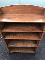 Antique Oak Open Bookcase (5 of 7)