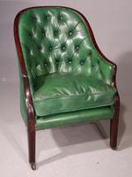 Good & Original George III Period Mahogany Library or Desk Chair (6 of 6)