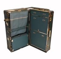 Vintage Steamer Trunk Luggage Case Harrison and  Co New York (23 of 28)