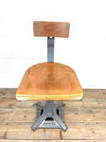 Original Industrial Singer Stool / Machinist Stool (2 of 9)