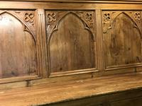 Gothic Pine Bench with storage (9 of 11)