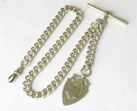 Antique Silver Watch Albert & Fob