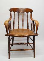 Edwardian Oak Bentwood Office Chair (2 of 11)