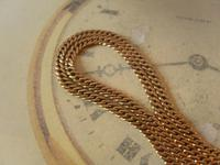 Antique Pocket Watch Chain 1890s Victorian 12ct Rose Gold Filled Albert With T Bar (5 of 12)