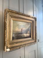 Antique Victorian marine seascape oil painting (1 of 2) (7 of 10)