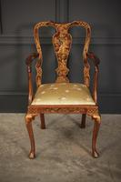 Pair of Chinoiserie Japanned Armchairs (5 of 16)