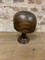 Dark Wooden Hat Block (2 of 4)
